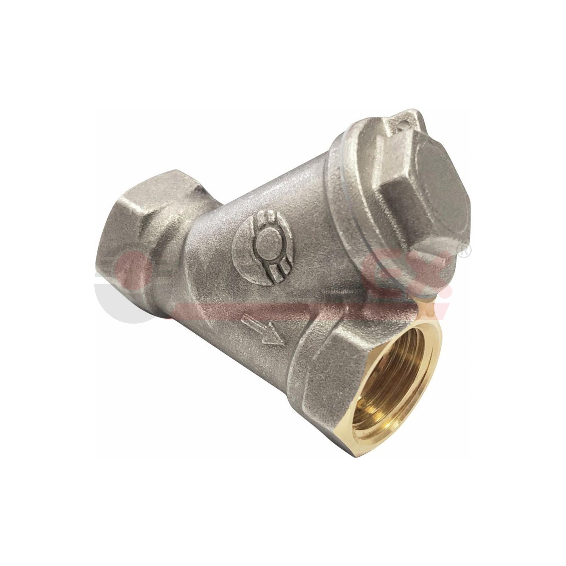 Фильтр сетчатый косой для газа VALFEX резьба внутренняя-внутренняя